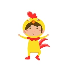 Child Wearing Costume of Chicken vector image vector image