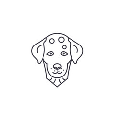 dalmatian dog line icon sign vector image