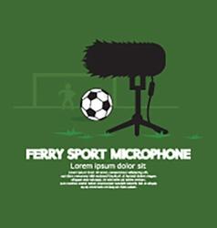 Furry sport microphone vector