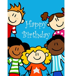 Kids birthday card vector image vector image