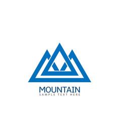 mountain logo icon vector image