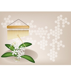 Musical Chimes Jasmine Background vector image vector image