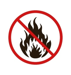 No fire forbidden sign on white vector image