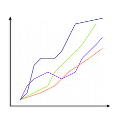 Template of curve chart vector