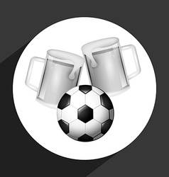 beer and soccer vector image
