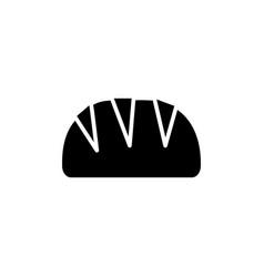 bread loaf icon black sign vector image vector image