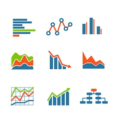 Different graphic business ratings and charts vector image vector image