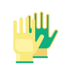 gardening flat yellow gloves for work isolated on vector image