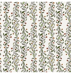Seamless floral pattern of curved spring vector image