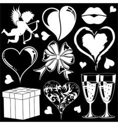 valentines day collection vector image vector image
