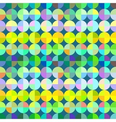 Abstract colorful mosaic circles seamless pattern vector image