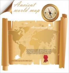 Ancient world map vector