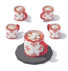 mug of hot chocolate vector image