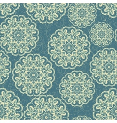 Beautiful blue seamless lace background vector image