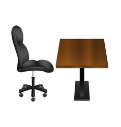 black chair and wooden desk vector image
