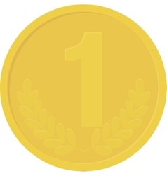 Gold yellow coin isolated on white background vector image vector image