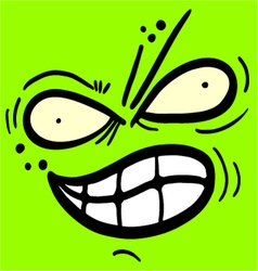Green monster face vector image vector image