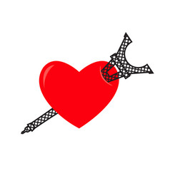 i love paris eiffel tower and heart sign i like vector image