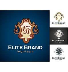 luxury logo vector image