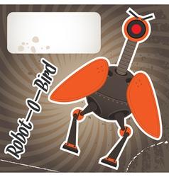 robot bird vector image vector image