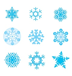 Snow flakes vector image