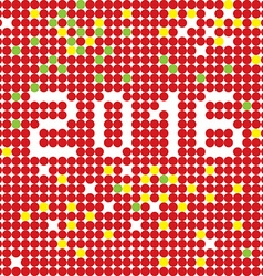 2016 dots stencil vector image