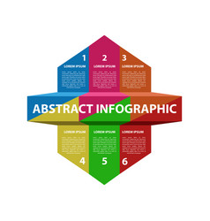 abstract business infographic vector image