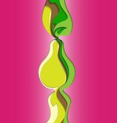 Abstract Pear vector image