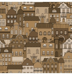 Ancient city seamless pattern vector image