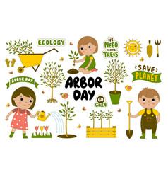 Arbor day vector