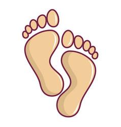 Bafootprints icon cartoon style vector