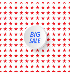 banner big sale in the background of stars vector image