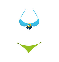 Bikini carnival dress icon vector