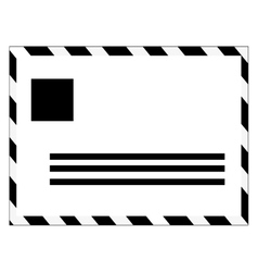 black and white mail envelope vector image