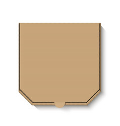 blank white cardboard pizza box for your design vector image