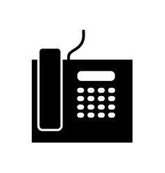 Business phone icon vector