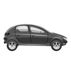 Car side view icon gray monochrome style vector image