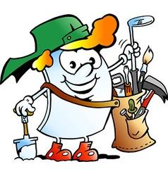 Cartoon of a Happy Golfer Paper Mascot vector