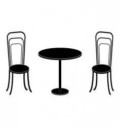 chairs converted vector image