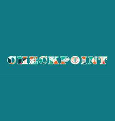 Checkpoint concept word art vector