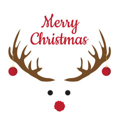 christmas antlers with nose vector image