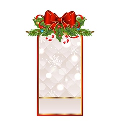 Christmas holiday greeting card vector image