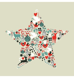 Christmas icons star shape vector
