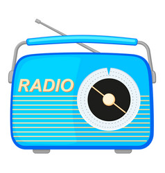 colorful cartoon retro radio vector image