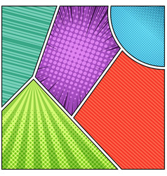 Comic book page abstract composition vector