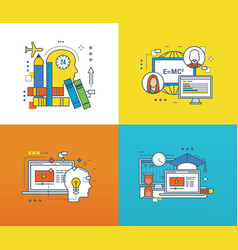 concept - modern education technology and online vector image