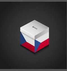 Czech republic flag printed on vote box vector
