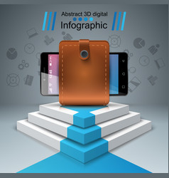 digital gadget smartphone - business infographic vector image