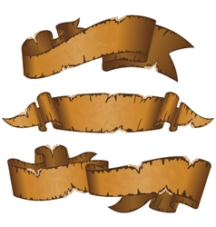 dirty old ribbons vector image