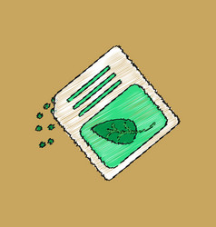 Flat shading style icon fertilizer package vector